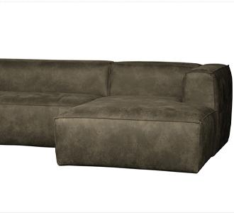 Bean corner sofa right army